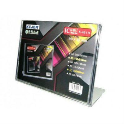"""L"" formos reklaminis stovelis, horizontalus, tiesus 90 x 55 mm (IC) – K-461 H"